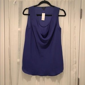 NWT Gorgeous Blue Draped Tank